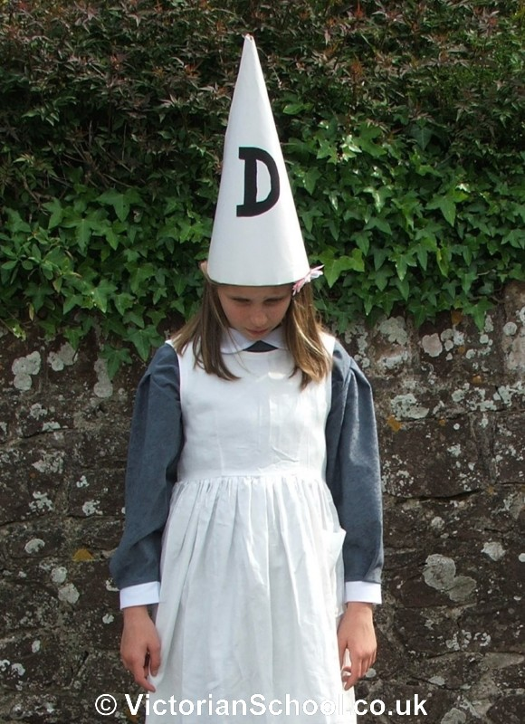 dunce hat template - the victorian school